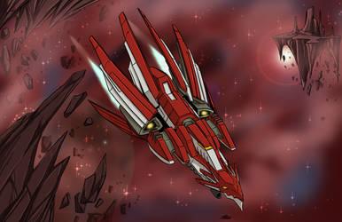 Dragon Starship by ProdigyDuck