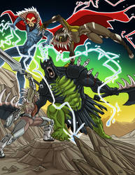 Fantasy Symbiote Battle by ProdigyDuck