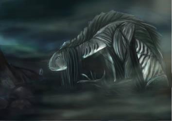 fish swamp creature by angsorbetes