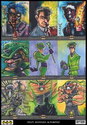 Split, Riddled and pumped - batman villains by ecaines