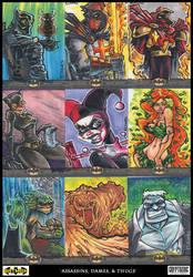 Assassins, Dames and Thugs - batman villains by ecaines