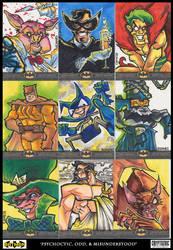 the odd balls - batman sketch cards by ecaines