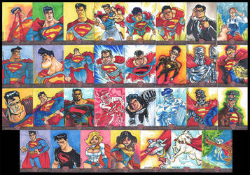 Superman Sketch Cards by ecaines