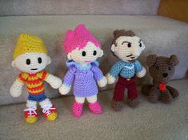 Crochet Mother 3 Team by BunnieBard