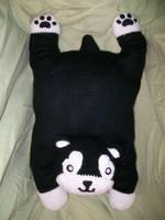 Black Hayate pillow by BunnieBard