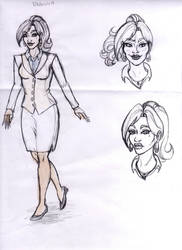 Sketch for Comics School Project Voodoo story by SerenityMoonCosplay