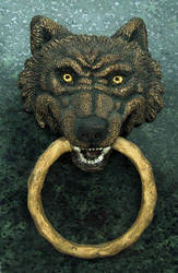 Wolf-Head Door-Knocker by nudge1