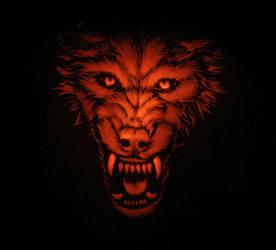 Wolf Pumpkin by nudge1