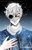 Demon in the Blue Stars by ZeeTheRedDinosaur