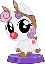 Pocket Pony Sleigh Bell Sweetie Belle by PhucknuckL