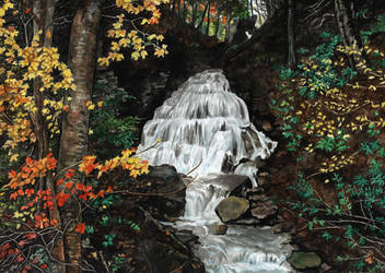 waterfall by naglets