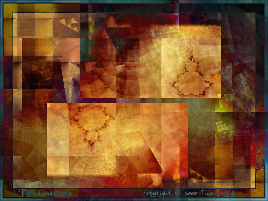 Bistred Mandorla by aartika-fractal-art