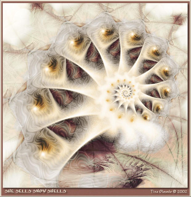 She Sells Snow Shells by aartika-fractal-art