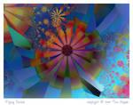 Flying Daisies by aartika-fractal-art