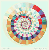 Mosaic Table by aartika-fractal-art