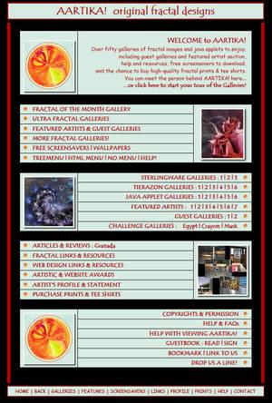Aartika Website 2001 by aartika-fractal-art