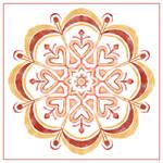 Watercolour Mandala by aartika-fractal-art