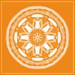 Tangerine Mandala by aartika-fractal-art
