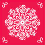 Rose-Tile Mandala by aartika-fractal-art