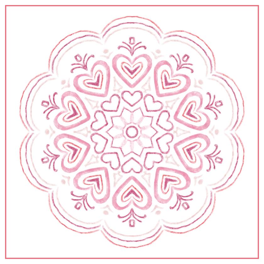 Pink-Heart Mandala by aartika-fractal-art