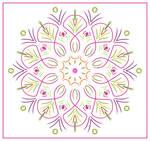 Pink-Green Felt-Tip Mandala by aartika-fractal-art