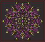 Neon-Mandala by aartika-fractal-art