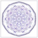 Mauve Mandala by aartika-fractal-art