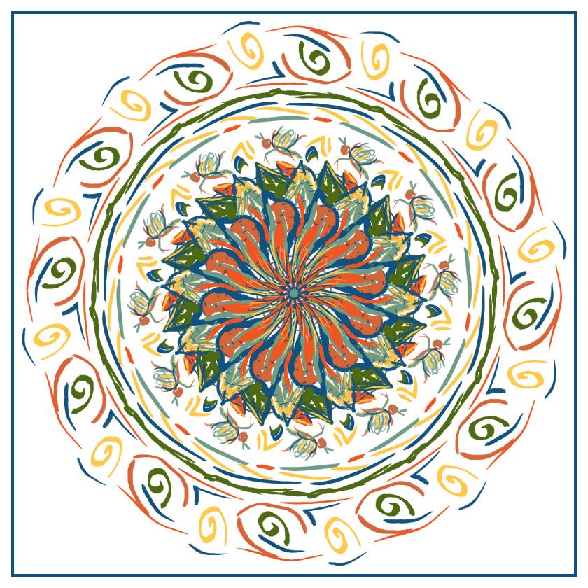 Insect-Mandala by aartika-fractal-art