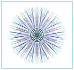 Blue-Spiky Manadala by aartika-fractal-art