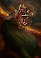 The death of Fenrir by MarschelArts