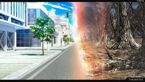 transition between the worlds by Voloshenko