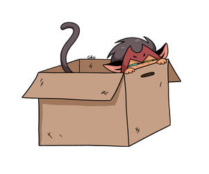 catra in a box by Coksii
