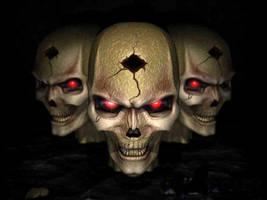 skulls by GREENDEATH