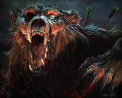 Happy Halloween! - Zombie Bear by ablaise