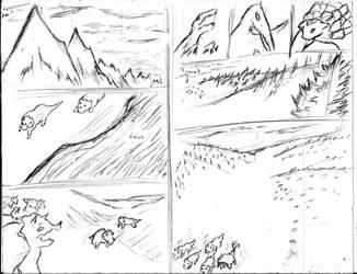 El Camino del Colmillo boceto 1 y 2 by Juracan