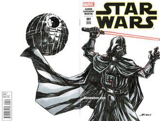 Darth Vader Star Wars sketch cover by nguy0699