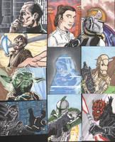 Star Wars Sketch Cards 1 by tedwoodsart
