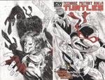 TMNT Sketch Cover: Raph/Casey Jones by tedwoodsart