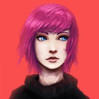 Blue-eyed Lady by IZOLYZM