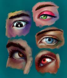 5 Semirealistic eyes by IZOLYZM