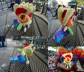 Rainbow Kecleon plush by Rinabow