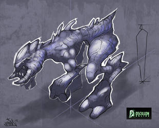 Boceto criatura 1 by EdiaN2d