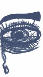 Continuous Line Eye Doodle by JackGrimm