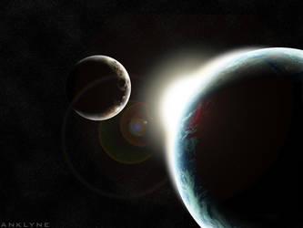Earth, Moon and Sun by Anklyne