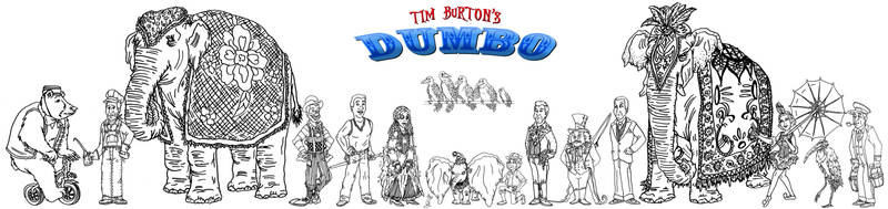 ZoraCatone and Tim Burton's Dumbo: Big Ears cast 1 by AverageJoeArtwork