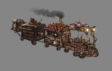 The train by Afzepanda