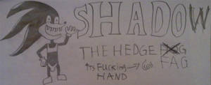 Shadow the hedge fag by sane69