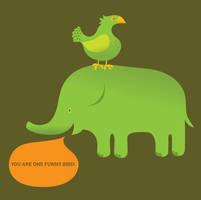 Funny Bird by alexmathers