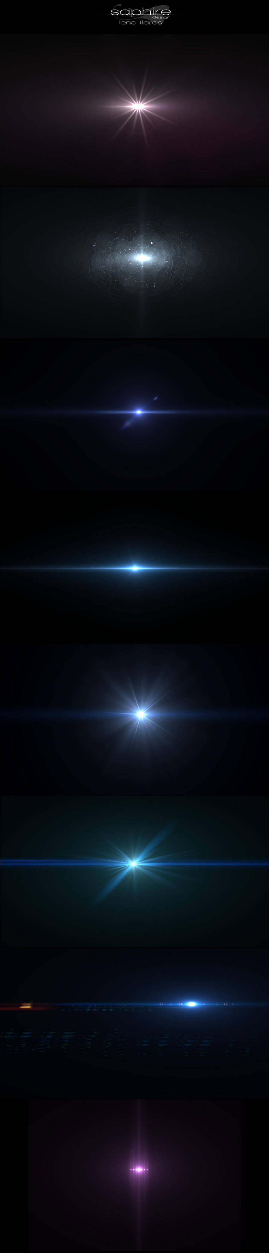 Amazing lens flares by SaphireDesign