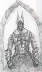 Steampunk Batman sketch by odingraphics